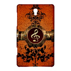 Wonderful Golden Clef On A Button With Floral Elements Samsung Galaxy Tab S (8 4 ) Hardshell Case