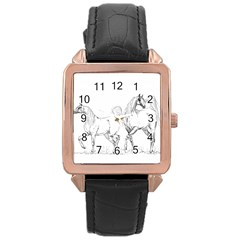 Logosquare Rose Gold Watches