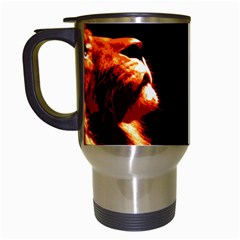 Robert And The Lion Travel Mugs (White)