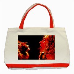 Robert And The Lion Classic Tote Bag (Red)