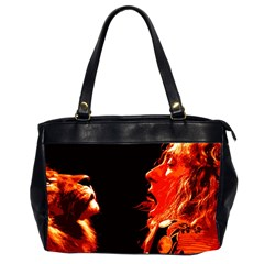 Robert And The Lion Office Handbags (2 Sides)