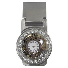 Steampunk, Awesome Clocks With Gears, Can You See The Cute Gescko Money Clips (CZ)