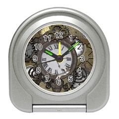 Steampunk, Awesome Clocks With Gears, Can You See The Cute Gescko Travel Alarm Clocks