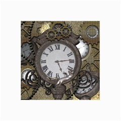Steampunk, Awesome Clocks With Gears, Can You See The Cute Gescko Collage 12  x 18