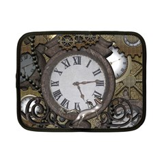 Steampunk, Awesome Clocks With Gears, Can You See The Cute Gescko Netbook Case (Small)