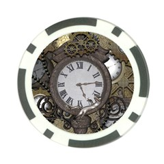 Steampunk, Awesome Clocks With Gears, Can You See The Cute Gescko Poker Chip Card Guards (10 pack)