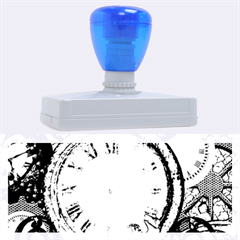 Steampunk, Awesome Clocks With Gears, Can You See The Cute Gescko Rubber Address Stamps (xl)