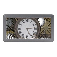 Steampunk, Awesome Clocks With Gears, Can You See The Cute Gescko Memory Card Reader (mini)