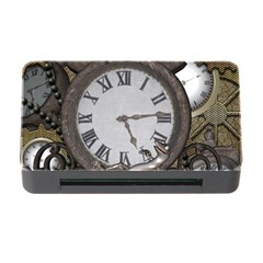 Steampunk, Awesome Clocks With Gears, Can You See The Cute Gescko Memory Card Reader With Cf