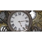 Steampunk, Awesome Clocks With Gears, Can You See The Cute Gescko Congrats Graduate 3D Greeting Card (8x4)  Back