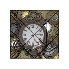 Steampunk, Awesome Clocks With Gears, Can You See The Cute Gescko Acrylic Tangram Puzzle (4  x 4 )