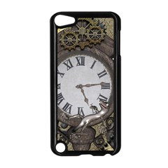 Steampunk, Awesome Clocks With Gears, Can You See The Cute Gescko Apple iPod Touch 5 Case (Black)