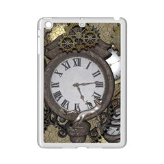 Steampunk, Awesome Clocks With Gears, Can You See The Cute Gescko iPad Mini 2 Enamel Coated Cases