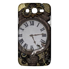 Steampunk, Awesome Clocks With Gears, Can You See The Cute Gescko Samsung Galaxy Mega 5.8 I9152 Hardshell Case