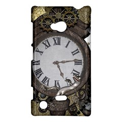 Steampunk, Awesome Clocks With Gears, Can You See The Cute Gescko Nokia Lumia 720