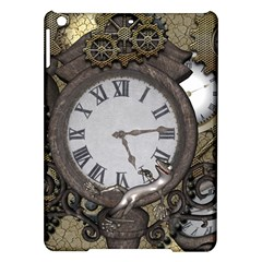 Steampunk, Awesome Clocks With Gears, Can You See The Cute Gescko iPad Air Hardshell Cases