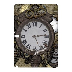 Steampunk, Awesome Clocks With Gears, Can You See The Cute Gescko Samsung Galaxy Tab Pro 10.1 Hardshell Case