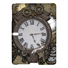 Steampunk, Awesome Clocks With Gears, Can You See The Cute Gescko Samsung Galaxy Tab S (10.5 ) Hardshell Case