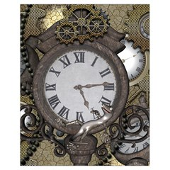 Steampunk, Awesome Clocks With Gears, Can You See The Cute Gescko Drawstring Bag (Small)
