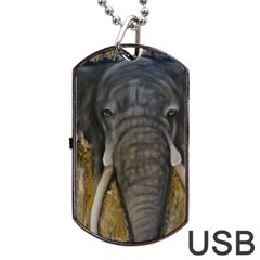 In the Mist Dog Tag USB Flash (Two Sides)