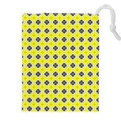 Yellow Black Pattern Drawstring Pouch (XXL)