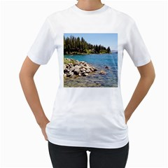 Nevada Lake Tahoe  Women s T Shirt (white) (two Sided)