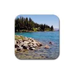 Nevada Lake Tahoe  Rubber Square Coaster (4 pack)