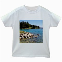 Nevada Lake Tahoe  Kids White T-Shirts