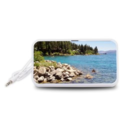 Nevada Lake Tahoe  Portable Speaker (white)