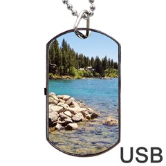 Nevada Lake Tahoe  Dog Tag Usb Flash (one Side)