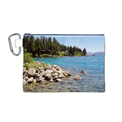 Nevada Lake Tahoe  Canvas Cosmetic Bag (M)