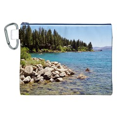 Nevada Lake Tahoe  Canvas Cosmetic Bag (XXL)