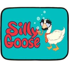 Silly Goose Mini Fleece Blanket (single Sided)