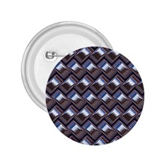 Metal Weave Blue 2.25  Buttons