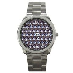 Metal Weave Blue Sport Metal Watches