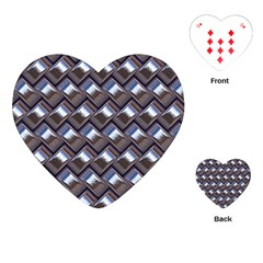 Metal Weave Blue Playing Cards (heart)