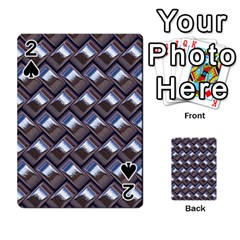 Metal Weave Blue Playing Cards 54 Designs