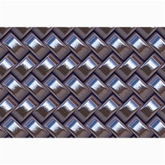 Metal Weave Blue Collage 12  X 18