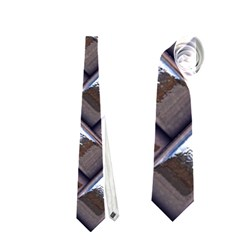 Metal Weave Blue Neckties (One Side)