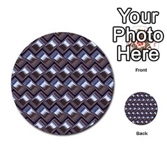 Metal Weave Blue Multi-purpose Cards (Round)