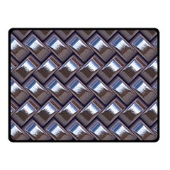 Metal Weave Blue Fleece Blanket (small)