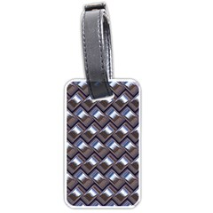 Metal Weave Blue Luggage Tags (One Side)