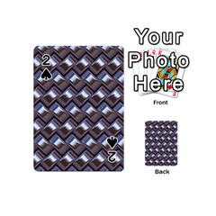Metal Weave Blue Playing Cards 54 (Mini)