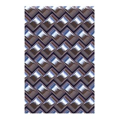 Metal Weave Blue Shower Curtain 48  X 72  (small)