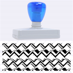 Metal Weave Blue Rubber Address Stamps (xl)
