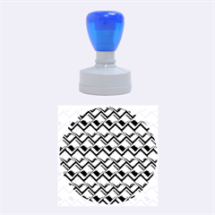Metal Weave Blue Rubber Round Stamps (Medium)