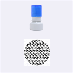 Metal Weave Blue Rubber Round Stamps (Small)