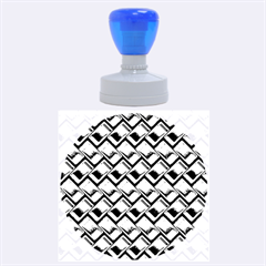 Metal Weave Blue Rubber Round Stamps (large)