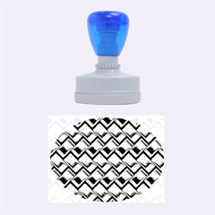 Metal Weave Blue Rubber Oval Stamps