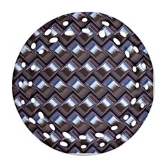 Metal Weave Blue Ornament (round Filigree)